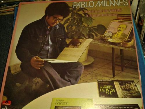 disco acetato de pablo milanes, cancion por la unidad latino