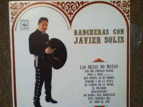 disco acetato de: rancheras con javier solis
