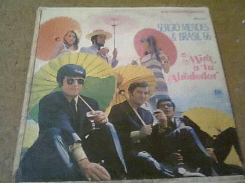 disco  acetato de sergio mendes &  brasil 66 mira a tu alred