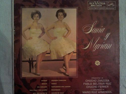 disco acetato de: sonia y myriam