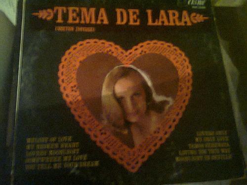 disco acetato de tema de lara dr. zhivago