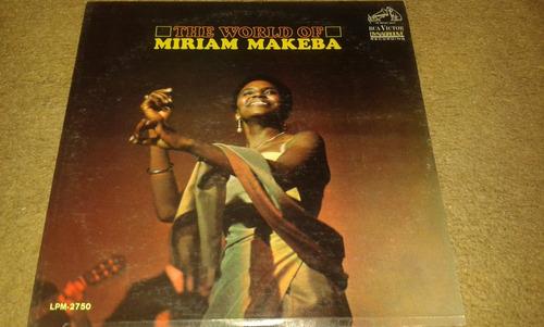 disco acetato de the world of mariam makeba