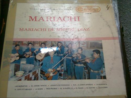 disco acetato de:mariachi de miguel diaz