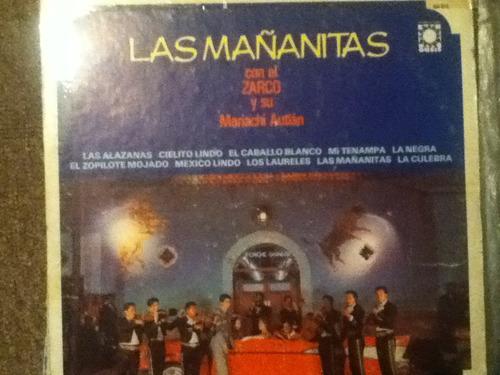 disco acetato:  el zarco y su mariachi autlan