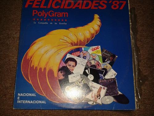 disco acetato: felicidades 87, 2 discos