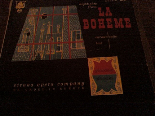 disco acetato highlights from la boheme