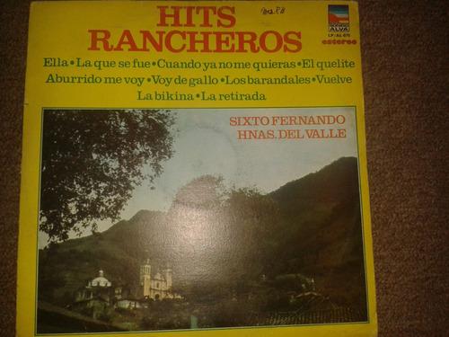 disco acetato: hits rancheros