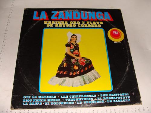 disco acetato la zandunga, marimba oro y plata de arturo cor