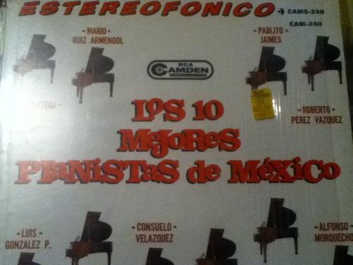disco acetato: los 10 mejores pianistas de mexico