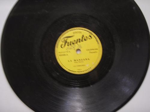 disco acetato los corraleros la manzana no me quieres 78 rpm