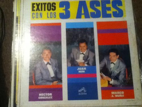 disco acetato: los tres  ases
