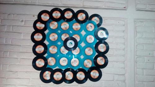disco acetato lp para decoración de color azul