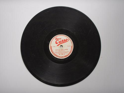 disco acetato orq rufo garrido la cumbia me gusta 78 rpm