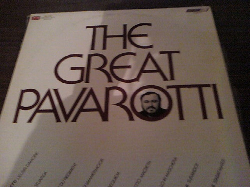 disco acetato the great pavarotti