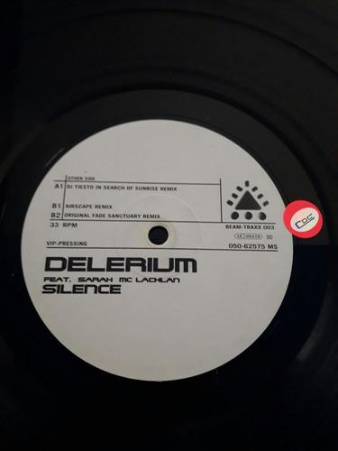 disco acetato vinilo lp delerium - silence