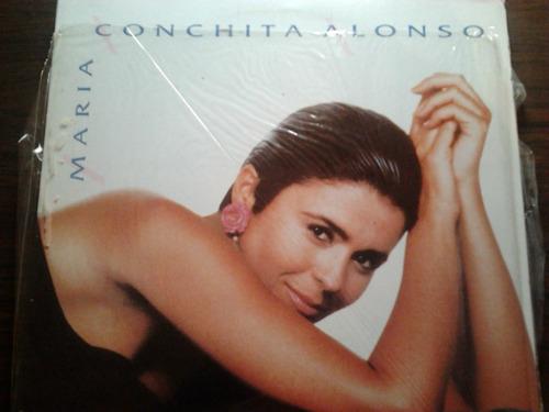 disco acetato y poster d maria conchita alonso hazme sentir