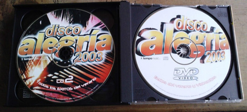 disco alegria 2003 cd boxset triple 2 cds y un dvd importado