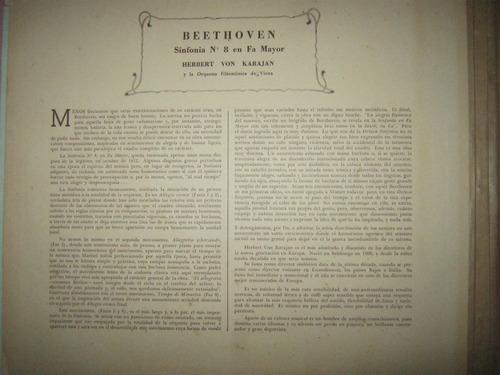 disco beetohven sinfonia numer nº 8 y nº 9 en dos carpetas