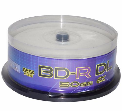 disco blu-ray 50 gb gtm printeable 25 unidades