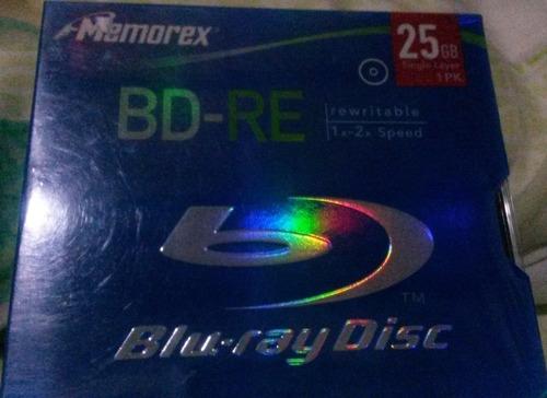 disco blu-ray re writer virgen memorex