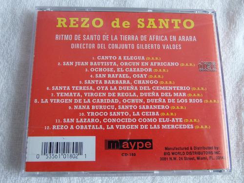 disco cd musical original de rezo a los santos
