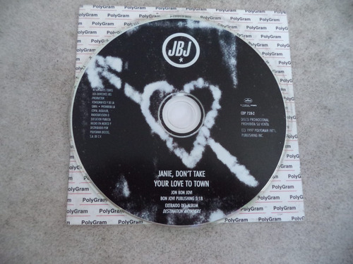 disco compacto  bon jovi janie,dont´take
