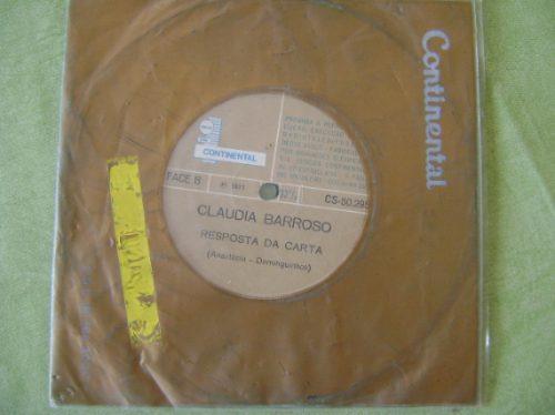 disco compacto de vinil lp - claudia barroso - 1971