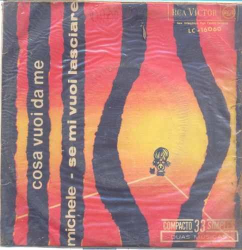 disco compacto de vinil - michele orquestra e coro - anos 60