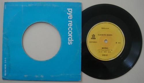 disco compacto simples - claudete soares -1973