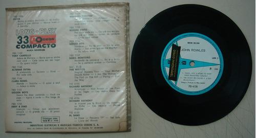disco compacto simples-  john rowles- hush..not a word