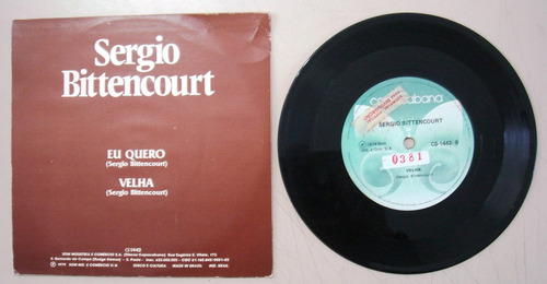 disco compacto simples - sergio bittencourt- eu quero