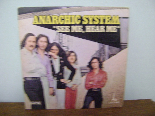 disco compacto vinil lp anarchic system see me hear me 1974