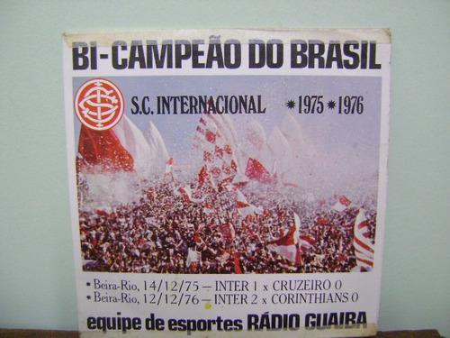 disco compacto vinil lp futebol internacional campeão guaíba