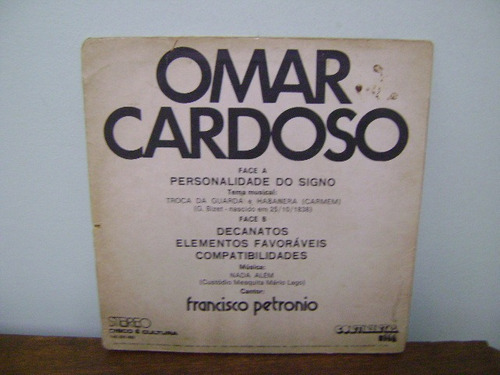 disco compacto vinil lp omar cardoso escorpião francisco