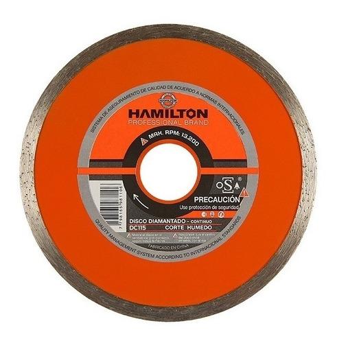 disco continuo diamantado 115mm hamilton dc115 4,5''