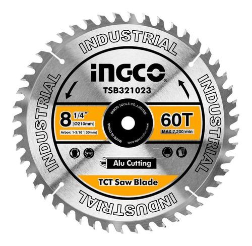 disco corte alum ingletadora 8 1/4 ingco 60 diente tsb325