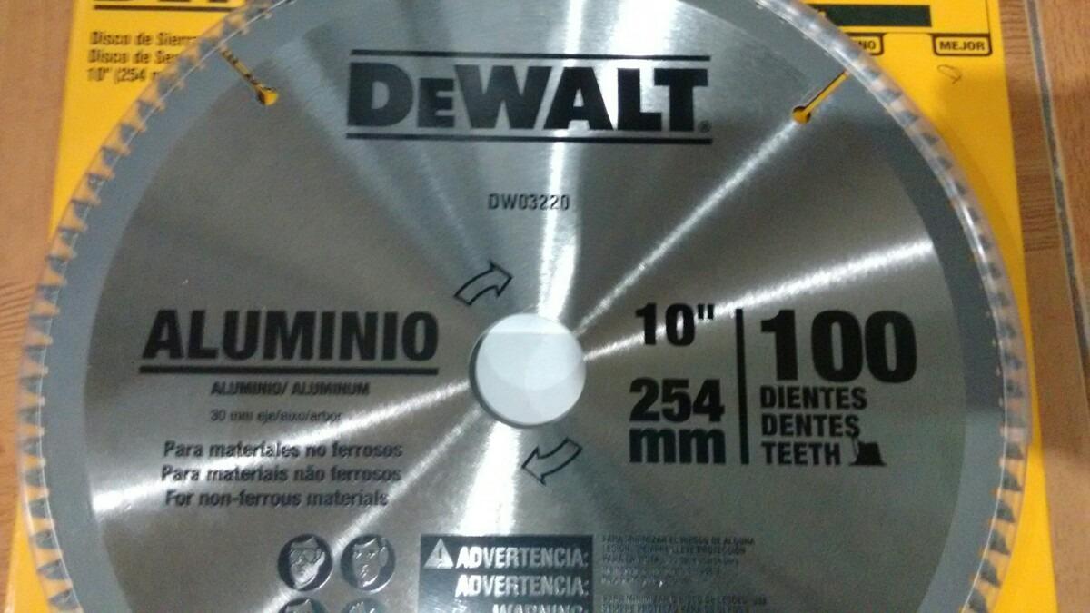 Disco corte aluminio 10 100 dientes carburo tungsteno - Disco corte aluminio ...