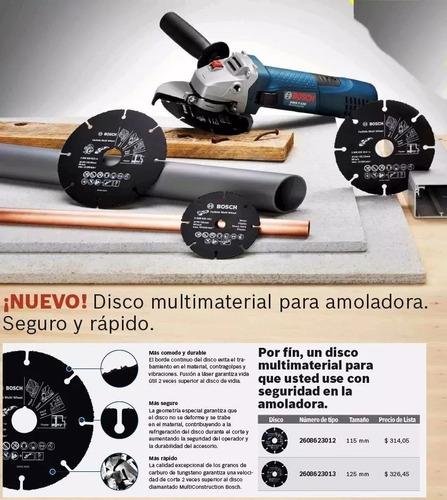 disco corte bosch amoladora 115 mm madera plastico clavos