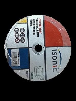 disco corte concreto 180x1.6x 22.2 mm 7p box 25 piezas