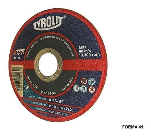 disco corte de tyrolit  xpert 114 x 1,6 mm caja x 25 un gramabi amoladora 4 1/2 plano 115x1,6 hierro 114x1,6 inoxidable