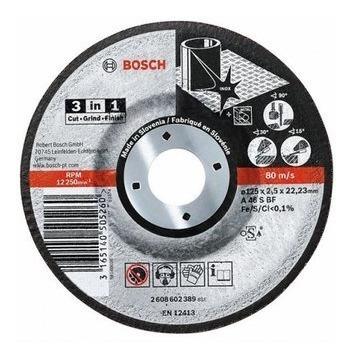 disco corte desbaste metal 4 1/2 x 3/32 x 7/8 bosch 3 en 1