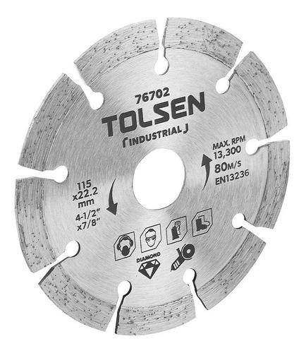 disco corte diamantado segmentado 9'' industria tolsen 76707