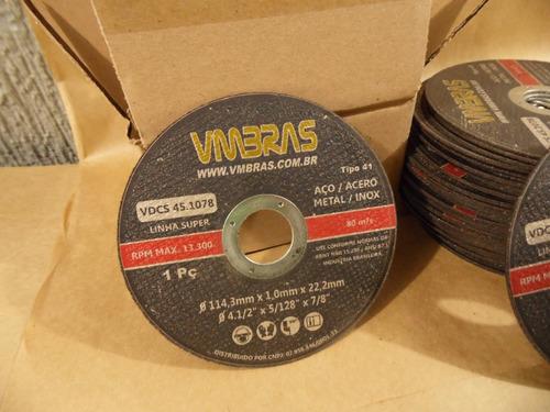 disco corte fino 4.1/2 lixadeira esmerilhadeira - kit 40pçs
