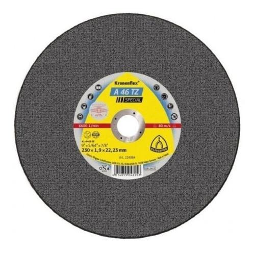 disco corte inox metal 9 polagada klingspor kronenflex a46tz
