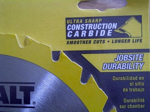 disco corte madera dewalt 7.1/4x24dientes dw3178 (35verds)