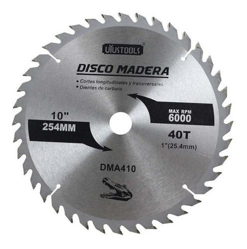 disco corte madera uyustools de 10  x 40 dientes
