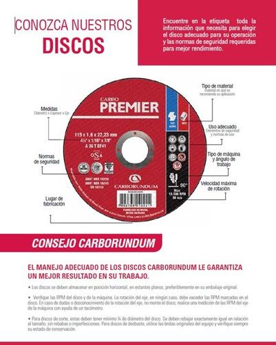 disco corte metal 4-1/2 premier carborundum alto rendimiento