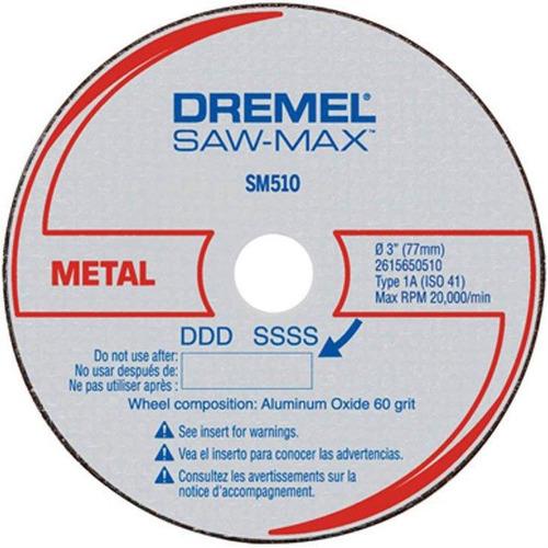 disco corte metal dremel saw-max, sm510, 3 unidades