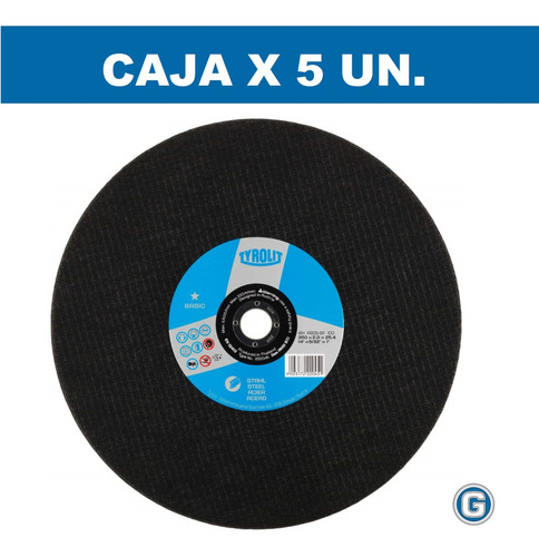 disco corte sensitiva tyrolit basic 350 x 2,8 cajax5 gramabi