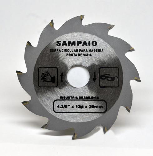 disco corte serra grossa madeira 110x20x12 4.3/8 sampaio